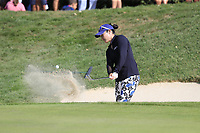 Tiffany Joh (USA) chips from a bunker at the 5th green during Thursday's Round 1 of The Evian Championship 2018, held at the Evian Resort Golf Club, Evian-les-Bains, France. 13th September 2018.<br /> Picture: Eoin Clarke | Golffile<br /> <br /> <br /> All photos usage must carry mandatory copyright credit (© Golffile | Eoin Clarke)