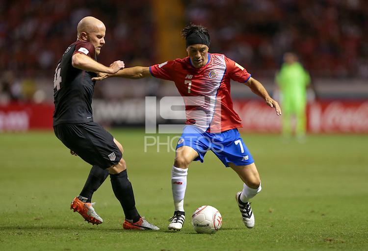 San Jose, Costa Rica - November 15, 2016: The U.S. Men's National team go down 0-2 to Costa Rica during Hexagonal round action in a World Cup Qualifying match at Estadio Nacional de Costa Rica.