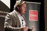 Allocution d'<br /> Eric Boyko, President et co-fondateur Groupe Stingray Digital, au Cercle canadien de Montréal, lundi 14 novembre 2016.<br /> <br /> PHOTO : Sandap Chao - Agence Quebec Presse