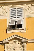 Europe/France/Provence-Alpes-Côte d'Azur/06/Alpes-Maritimes/Nice:  Détail des façades des maisons du Cours Saleya