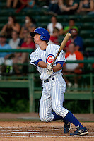 May 7 2010: DJ LeMahieu (17) of the Daytona Cubs during a game vs. the Clearwater Threshers at Jackie Robinson Ballpark in Daytona Beach, Florida. Daytona, the Florida State League High-A affiliate of the Chicago Cubs, lost the game against Clearwater, affiliate of the Philadelphia Phillies, by the score of 8-3.  Photo By Scott Jontes/Four Seam Images
