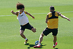 Getafe's Marc Cucurella (l) and Jorge Molina during training session. June 5,2020.(ALTERPHOTOS/Acero)