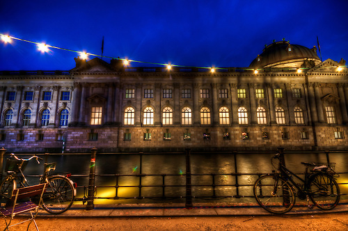 Bode museum Berlin, shot at during the blue hour.