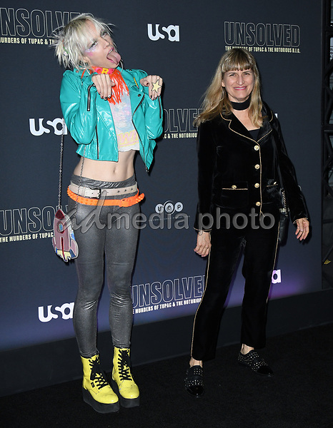 "22 February 2018 - Hollywood, California - Catherine Hardwicke. USA Network's ""Unsolved: The Murders of Tupac & The Notorious B.I.G."" held at Avalon Hollywood. Photo Credit: Birdie Thompson/AdMedia"