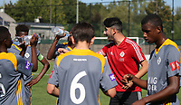 20190914– MECHELEN , BELGIUM : OHL's coach Zurab Amiriani is pictured talking to his players during the U16s Elite League match between KV Mechelen and Oud Heverlee Leuven on Saturday 14th 2019 at the KV Mechelen Youth Complex in Mechelen , Belgium. PHOTO SPORTPIX.BE | Sevil Oktem