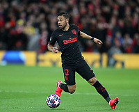 11th March 2020; Anfield, Liverpool, Merseyside, England; UEFA Champions League, Liverpool versus Atletico Madrid;  Renan Lodi of Atletico Madrid controls the ball