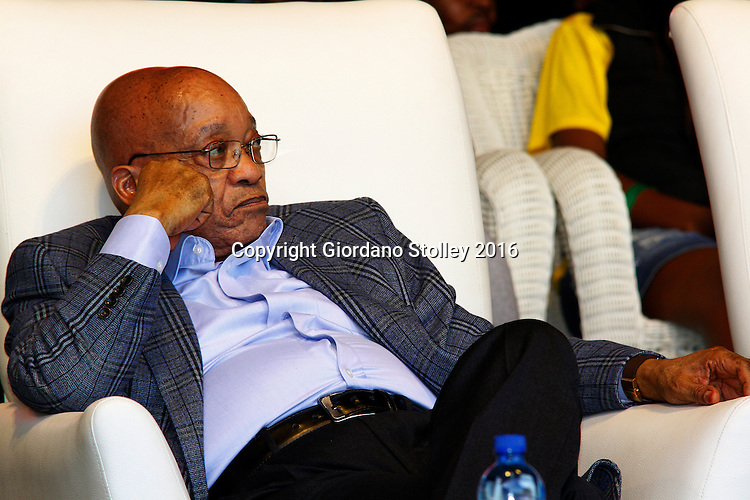 DURBAN - 25 July 2016 - South Africa's President Jacob Zuma waits to speak in Durban's King Park Stadium a the Youth Month Rally hosted by the ruling African National Congress party's youth wing. Picture: Allied Picture Press/APP