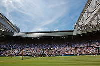 England, London, Juli 04, 2015, Tennis, Wimbledon, Overall view of Centrecourt<br /> Photo: Tennisimages/Henk Koster