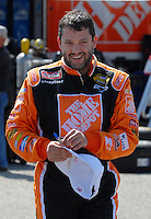 Apr 27, 2007; Talladega, AL, USA; Nascar Nextel Cup Series driver Tony Stewart (20) during practice for the Aarons 499 at Talladega Superspeedway. Mandatory Credit: Mark J. Rebilas