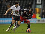 New signing Yakubu of Reading competes with Ryan Shotton of Derby  - Football - FA Cup 5th round - Derby County vs Reading - IPro Stadium Derby - Season 2014/15 - 14th February 2015 - Photo Malcolm Couzens/Sportimage