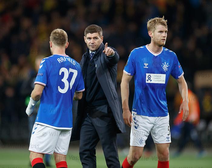 03.10.2019 Young Boys of Bern v Rangers: Steven Gerrard at full time