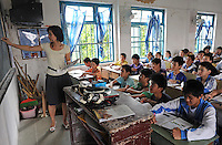 A classroom full of boys in Dangzhou City, Dangzhou on Hainan Island, China is the epicentre of China's gender imbalance problem. Hainan has a national average of 136 males for every 100 females born and Dangzhou has 168 males for every 100 born.