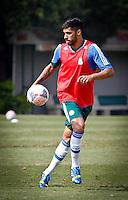SÃO PAULO,SP,19 JULHO 2013 - TREINO PALMEIRAS -  Vilson  durante treino do Palmeiras no CT da Barra Funda, zona oeste de Sao Paulo,na manhã sexta feira.O time se prepara para o jogo contra o Figueirense em Florianopolis no sabado (20).FOTO ALE VIANNA - BRAZIL PHOTO PRESS.