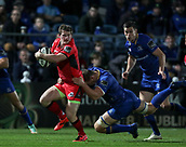 29th September 2017, RDS Arena, Dublin, Ireland; Guinness Pro14 Rugby, Leinster Rugby versus Edinburgh; Rhys Ruddock (Leinster) tackles James Johnstone (Edinburgh)