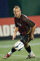 Clint Mathis of the MetroStars. The NY/NJ MetroStars were defeated by the New England Revolution 2-1 on 9/13/03 at Giant's Stadium, NJ..