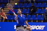 December 20, 2014, Rotterdam, Topsport Centrum, Lotto NK Tennis, Mens doubles wheelchair final, Rik Molier<br /> Photo: Tennisimages/Henk Koster