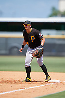 Pittsburgh Pirates first baseman Mason Martin (25) during a Florida Instructional League game against the New York Yankees on September 25, 2018 at Yankee Complex in Tampa, Florida.  (Mike Janes/Four Seam Images)