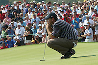Boo Weekley examining his putt the 7th green during the saturday afternoon fourball at The 37th Ryder cup from Valhalla Golf Club in Louisville, Kentucky....Photo: Fran Caffrey/www.golffile.ie.
