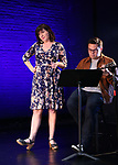 Kristen Anderson-Lopez and Robert Lopez on stage during the 9th Annual LILLY Awards at the Minetta Lane Theatre on May 21,2018 in New York City.