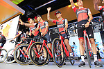 BMC Racing Team on stage at the Team Presentation in Burgplatz Dusseldorf before the 104th edition of the Tour de France 2017, Dusseldorf, Germany. 29th June 2017.<br /> Picture: Eoin Clarke | Cyclefile<br /> <br /> <br /> All photos usage must carry mandatory copyright credit (&copy; Cyclefile | Eoin Clarke)