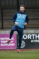 7th March 2020; Somerset Park, Ayr, South Ayrshire, Scotland; Scottish Championship Football, Ayr United versus Dundee FC; Jamie Ness of Dundee warms up before the match