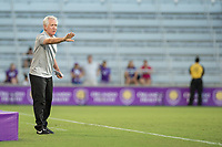 Orlando, FL - Saturday July 15, 2017: Tom Sermanni during a regular season National Women's Soccer League (NWSL) match between the Orlando Pride and FC Kansas City at Orlando City Stadium.