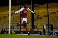 Fleetwod Town's Toumani Diagouraga celebrates scoring his first goal of the match <br /> <br /> Photographer Hannah Fountain/CameraSport<br /> <br /> The EFL Sky Bet League One - Southend United v Fleetwood Town - Saturday 13th January 2018 - Roots Hall - Southend<br /> <br /> World Copyright &copy; 2018 CameraSport. All rights reserved. 43 Linden Ave. Countesthorpe. Leicester. England. LE8 5PG - Tel: +44 (0) 116 277 4147 - admin@camerasport.com - www.camerasport.com