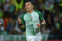 MEDELLIN-COLOMBIA- 26-04-2017.Dayro Moreno jugador del   Atlético Nacional celebra su gol contra   el Atlético Junior   durante encuentro  por la fecha 5 de la Liga Aguila I 2017 disputado en el estadio Atanasio Girardot./ Dayro Moremo  player of   Atletico Nacional celebrates his goal agaisnt of  Atletico Junior during match for the date 5 of the Aguila League I 2017 played at Atanasio Girardot stadium . Photo:VizzorImage / León Monsalve / Contribuidor