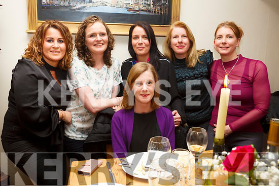 Ciara O&rsquo;Sullivan from Tralee, seated and celebrating her birthday with friends in Bella Bia on friday night last.<br /> Standing l-r, Evonne Cronin, Siobhan Flynn, Karen Lynch, Pauline Keenan and Margaret Scanlon.