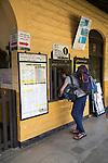 Railway station ticket office Ella, Badulla District, Uva Province, Sri Lanka, Asia