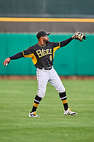 Eric Young Jr. (8) of the Salt Lake Bees during the game against the Omaha Storm Chasers in Pacific Coast League action at Smith's Ballpark on May 8, 2017 in Salt Lake City, Utah. Salt Lake defeated Omaha 5-3. (Stephen Smith/Four Seam Images)