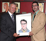 Max Kilmavicius  & Jon Robin Baitz.attending the celebration for Jon Robin Baitz receiving a Caricature on Sardi's Hall of Fame in New York City on 5/31/2012