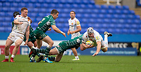 Exeter Chiefs' Thomas Waldrom in action during todays match<br /> <br /> Photographer Bob Bradford/CameraSport<br /> <br /> Aviva Premiership Round 20 - London Irish v Exeter Chiefs - Sunday 15th April 2018 - Madejski Stadium - Reading<br /> <br /> World Copyright &copy; 2018 CameraSport. All rights reserved. 43 Linden Ave. Countesthorpe. Leicester. England. LE8 5PG - Tel: +44 (0) 116 277 4147 - admin@camerasport.com - www.camerasport.com