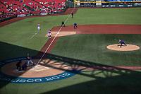 Partido de beisbol de la Serie del Caribe con el encuentro entre los Alazanes de Gamma de Cuba contra los Criollos de Caguas de Puerto Rico en estadio de los Charros de Jalisco en Guadalajara, M&eacute;xico, Martes 6 feb 2018. <br /> (Foto: AP/Luis Gutierrez)