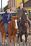 Listowel duo Stephen McCarthy and Sean O'Leary at the Annual Horse and Pony fair in Athea last Saturday morning.