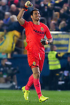 Goalkeeper Andrés Fernández Moreno of Villarreal CF  reacts during their La Liga match between Villarreal CF and Real Madrid at the Estadio de la Cerámica on 26 February 2017 in Villarreal, Spain. Photo by Maria Jose Segovia Carmona / Power Sport Images