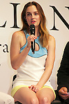"""Leighton Meester, September 25 2014, Tokyo, Japan : American singer, model and actress Leighton Meester speaks during the press conference and VIP party to promote the new fragrance """"ST. Rillian"""" by Stone Market on September 25 in Tokyo, Japan. The name of the fragrance comes from Stone/ST and Trillion, and the product will be released on Friday September 26. The perfume contains power stones and cubic zirconia inside the bottle and has variation of fragrance.  (Photo by Rodrigo Reyes Marin/AFLO)"""