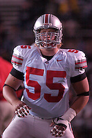 08 October 2005:  Ohio State center Nick Mangold..The Penn State Nittany Lions knocked off the #6 Ohio State Buckeyes 17-10 October 8, 2005 at Beaver Stadium in State College, PA..