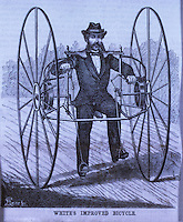 Technology:  White's Improved Bicycle.  SCI. AM.  May 29, 1869.  Reference only.