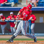 29 February 2016: Washington Nationals infielder Matt Skole in action during an inter-squad pre-season Spring Training game at Space Coast Stadium in Viera, Florida. Mandatory Credit: Ed Wolfstein Photo *** RAW (NEF) Image File Available ***