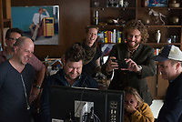 Office Christmas Party (2016)<br /> Producer Beau Bauman, director Josh Gordon, T.J. Miller, director Will Speck, on set,   <br /> *Filmstill - Editorial Use Only*<br /> CAP/KFS<br /> Image supplied by Capital Pictures