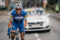 Philippe Gilbert (BEL/Quick Step floors) after a swift bike-switch<br /> <br /> 2018 Binche - Chimay - Binche / Memorial Frank Vandenbroucke (1.1 Europe Tour)<br /> 1 Day Race: Binche to Binche (197km)