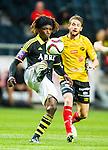 Solna 2015-07-26 Fotboll Allsvenskan AIK - IF Elfsborg :  <br /> AIK:s Mohamed Bangura i aktion under matchen mellan AIK och IF Elfsborg <br /> (Foto: Kenta J&ouml;nsson) Nyckelord:  AIK Gnaget Friends Arena Allsvenskan Elfsborg IFE