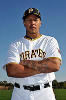 Feb 28, 2010; Bradenton, FL, USA; Pittsburgh Pirates  outfielder Jose Tabata (31) during  photoday at Pirate City. Mandatory Credit: Tomasso De Rosa/ Four Seam Images