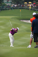 Lee Westwood (ENG) plays approach shot to the 9th during the Final Round of the 2014 Maybank Malaysian Open at the Kuala Lumpur Golf & Country Club, Kuala Lumpur, Malaysia. Picture:  David Lloyd / www.golffile.ie