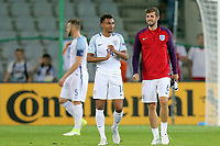 Jacob Murphy and Jack Stephens of England are all smiles at the final whistle after England Under-21 vs Poland Under-21, UEFA European Under-21 Championship Football at The Kolporter Arena on 22nd June 2017