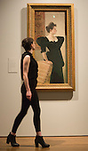 "Pictured: Portrait of a Lady in Black by Gustav Klimt, c 1894. This autumn, the National Gallery presents the UK's first major exhibition devoted to Viennese portraiture - ""Facing the Modern: The Portrait in Vienna 1900"". From 9 October 2013 to 12 January 2014 portraits by artists such as Gustav Klimt, Oskar Kokoschka, Egon Schiele and Richard Gerstl will be on display."