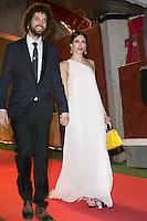 Nerea Barros and her Boyfriend Juan Ibanez attends the Feroz Cinema Awards 2015 at Las Ventas, Madrid,  Spain. January 25, 2015.(ALTERPHOTOS/)Carlos Dafonte) /NortePhoto<br /> <br /> nortePhoto.com