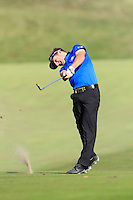 Jbe Kruger (RSA) on the 9th during Round 2 of the KLM Open at Kennemer Golf &amp; Country Club on Friday 12th September 2014.<br /> Picture:  Thos Caffrey / www.golffile