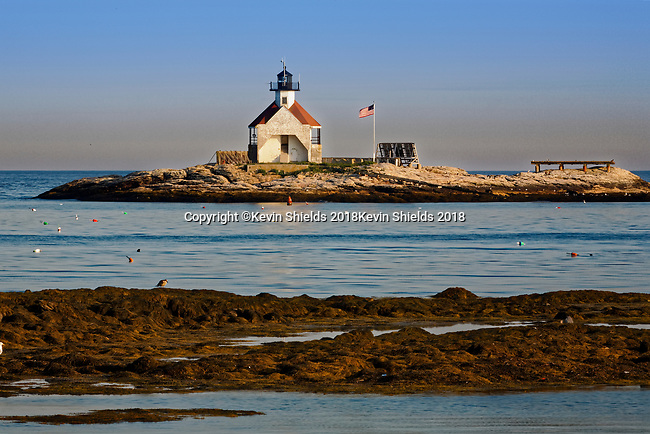 The Cuckolds, a lighthouse in Southport, Maine, USA